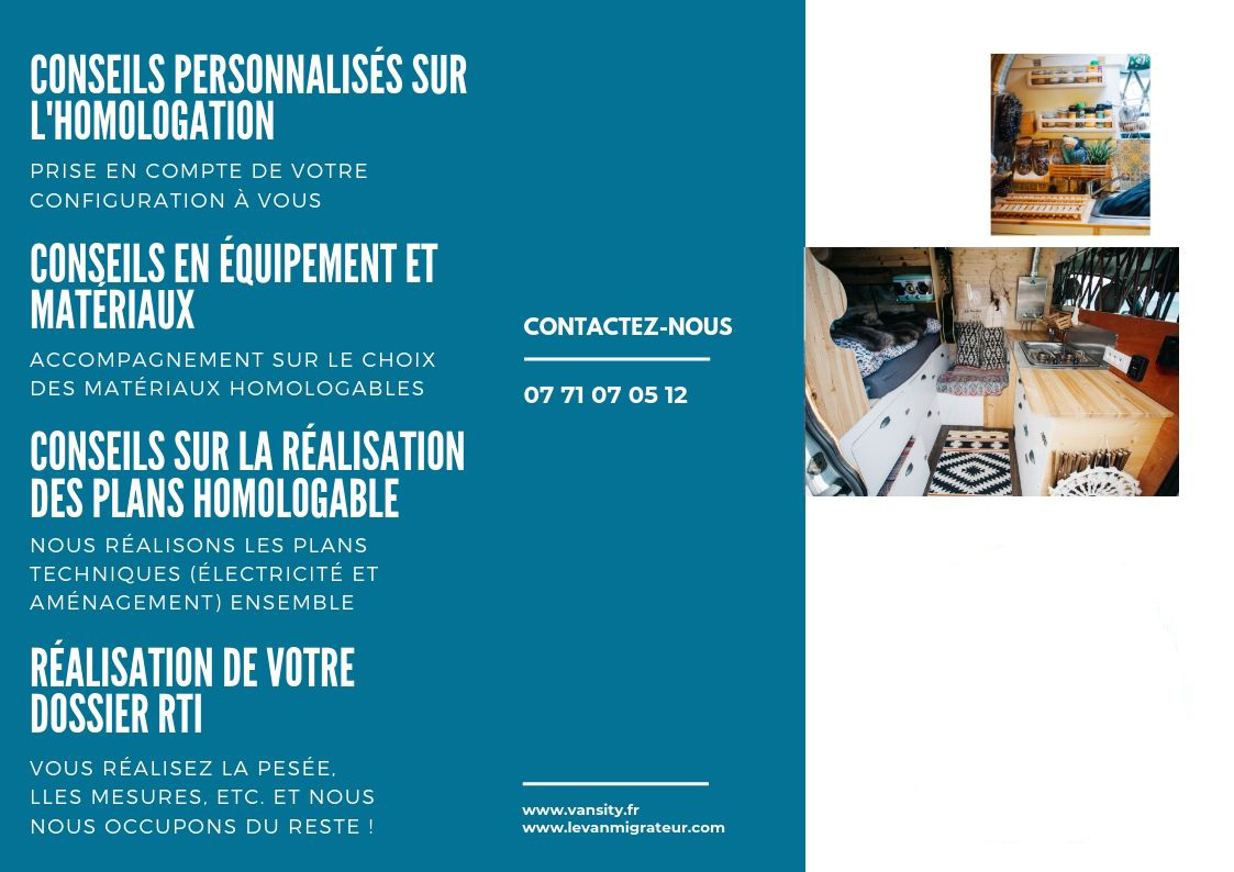 Accompagnement homologation fourgon